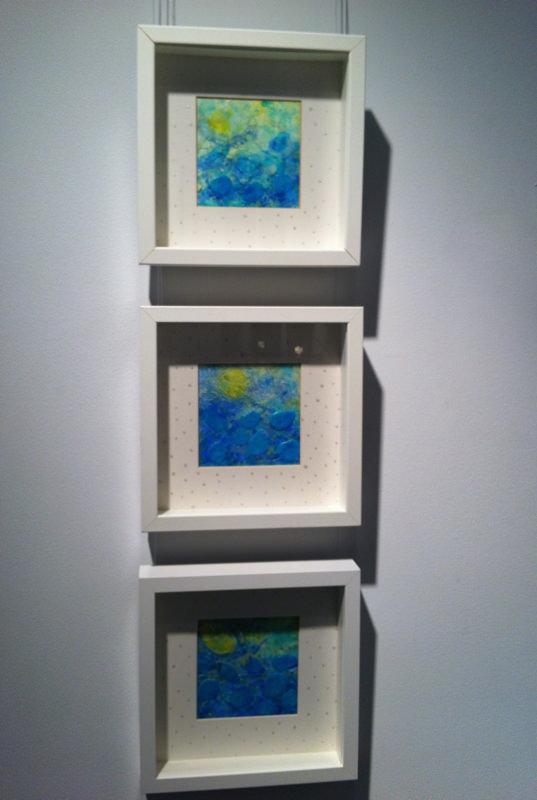 "Turquoise Lake Triptych, Acrylic, 10""H x 10""W x 3 pieces"